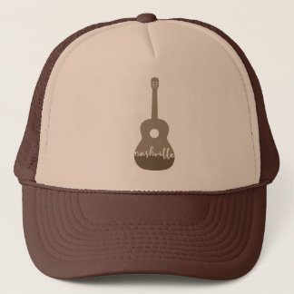 Nashville guitar Music City trucker hat