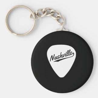 Nashville Guitar Pick Basic Round Button Keychain