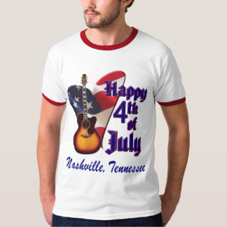 Nashville Happy 4th of July Men's  Ringer T-Shirt