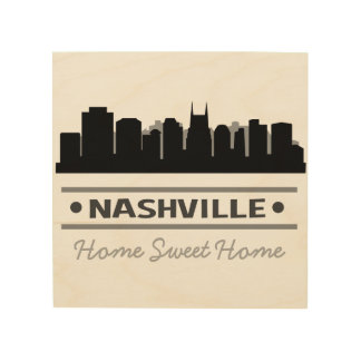 Nashville Home Sweet Home Wood Wall Art