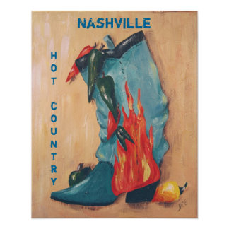 Nashville, hot country poster