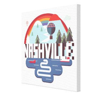 Nashville In Design Canvas Print