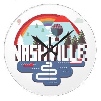 Nashville In Design Large Clock