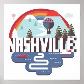 Nashville In Design Poster