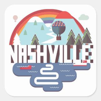 Nashville In Design Square Sticker