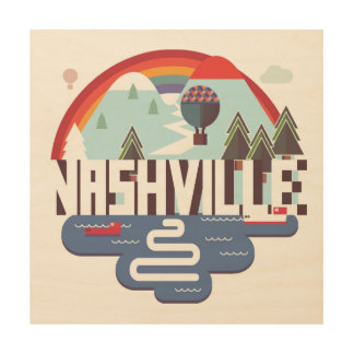 Nashville In Design Wood Wall Art
