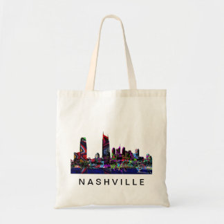 Nashville in graffiti tote bag