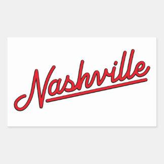 Nashville in Red Sticker
