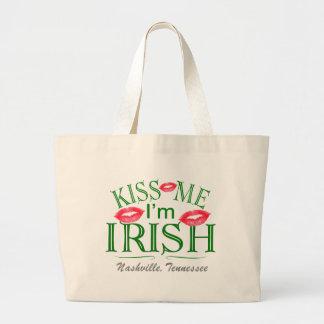 Nashville Kiss Me I'm Irish Jumbo Tote