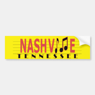 Nashville - Live the Music! Bumper Sticker