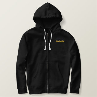 Nashville Music Notes Embroidered Hoodie