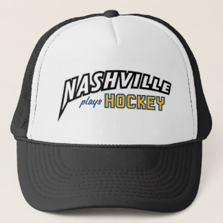 Nashville Plays Hockey Black Trim Trucker Hat