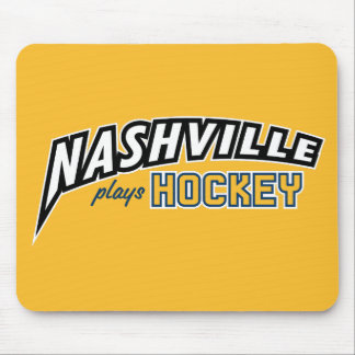 Nashville Plays Hockey Gold Mouse Pad
