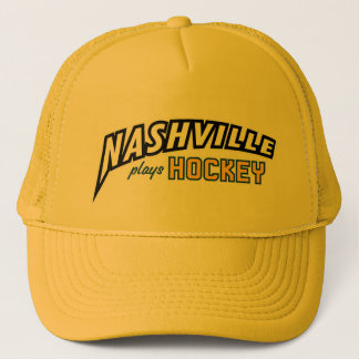 Nashville Plays Hockey Gold Trucker Hat