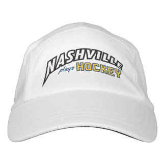 Nashville Plays Hockey White Performance Hat