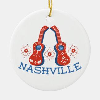 Nashville Round Ceramic Ornament