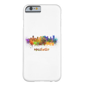 Nashville skyline in watercolor barely there iPhone 6 case