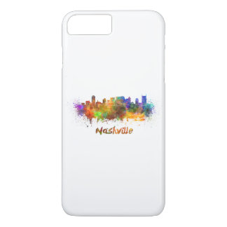 Nashville skyline in watercolor iPhone 8 plus/7 plus case
