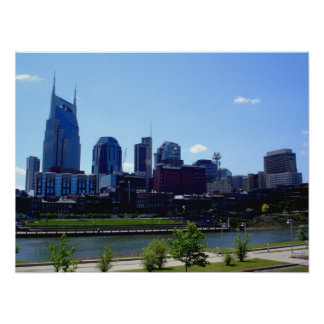 Nashville Skyline - Nashville, Tennessee Poster