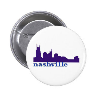 Nashville Skyline Purple 2 Inch Round Button