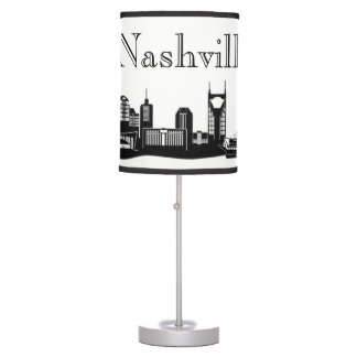 Nashville Skyline Silhouette Table Lamp