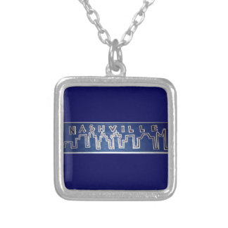 Nashville Skyline Silver Plated Necklace