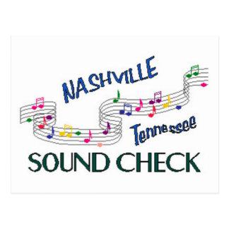 Nashville Sound Check Postcard
