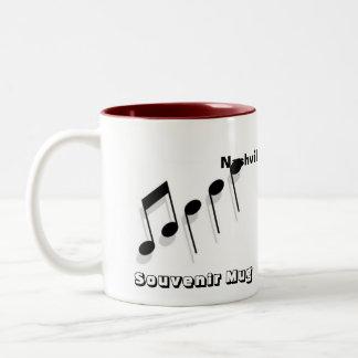Nashville Souvenir Two-Tone Coffee Mug
