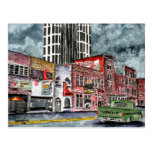 nashville tennessee country music capital art postcard