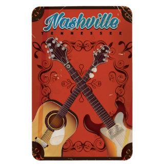 Nashville, Tennessee Guitar vintage travel poster Magnet