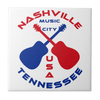 Nashville, Tennessee Music City USA Tile