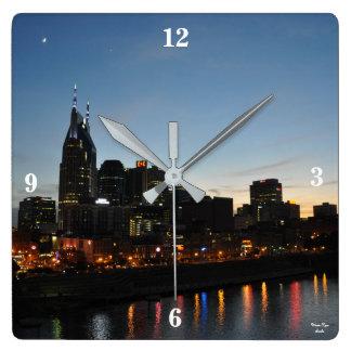 Nashville Tennessee Skyline - Acrylic Wall Clock Square Wall Clock