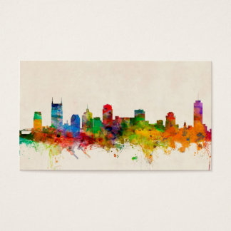 Nashville Tennessee Skyline Cityscape Business Card
