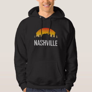 Nashville Tennessee Sunset Skyline Hoodie