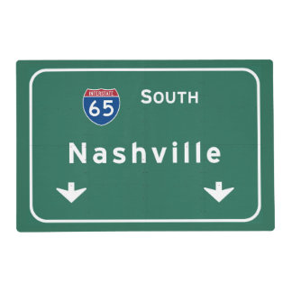 Nashville Tennessee tn Interstate Highway Freeway Laminated Place Mat