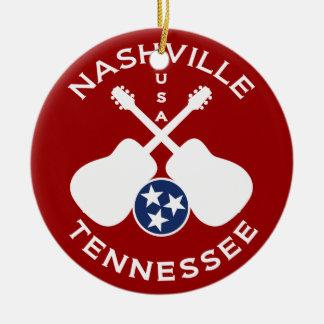 Nashville, Tennessee USA Round Ceramic Ornament