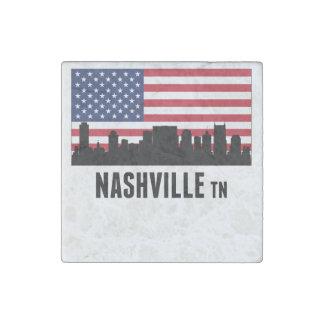Nashville TN American Flag Stone Magnets