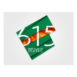Nashville, TN Area Code 615 Postcard