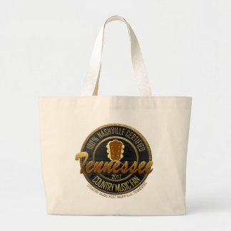 Nashville TN Country Music Fan Large Tote
