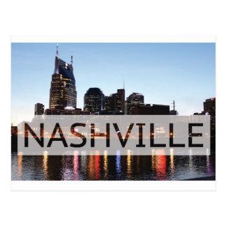 Nashville, TN Downtown w/River Postcard