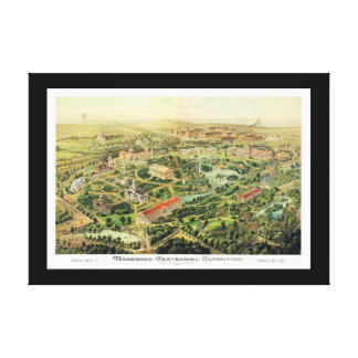 Nashville TN Panoramic Map DIGITALLY REMASTERED Canvas Print