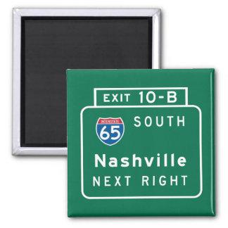 Nashville, TN Road Sign Magnet