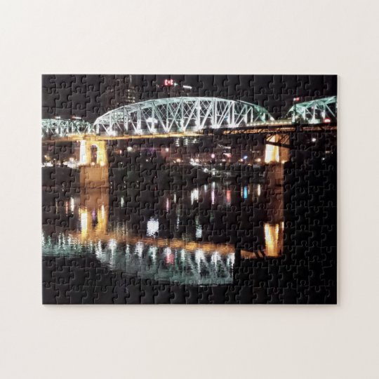 Nashville, TN - Shelby Street Pedestrian Bridge Jigsaw Puzzle