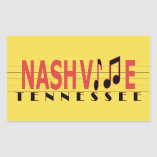 Nashville TN Sticking to the Music Sticker