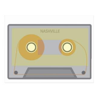 Nashville, TN Vintage Music City Cassette Postcard