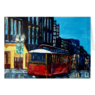Nashville Trolley Christmas Card