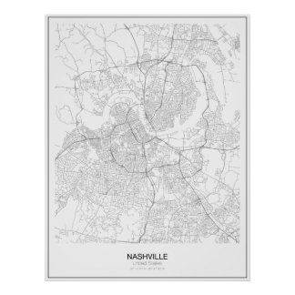 Nashville, United States Minimalist Map Poster