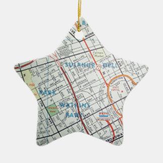 NASHVILLE Vintage Map Ceramic Star Ornament