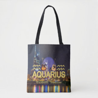 Nashville Zodiac Aquarius All Over Print Tote Bag