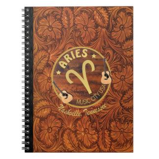 Nashville Zodiac Aries Spiral Notebook